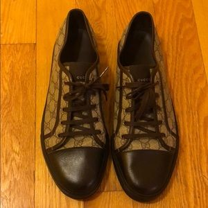 Brown Authentic Gucci sneakers!